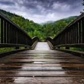 across the wooden bridge - photo by darko ivancevic
