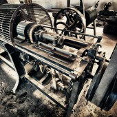 an old machine - photo by darko ivancevic